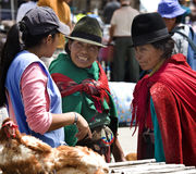 Ecuadorian Women - Food Market - Ecuador Royalty Free Stock Photos