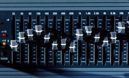 Ecualizador gráfico Imagen de archivo libre de regalías