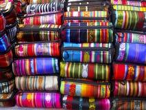 Ecuatoriaanse geweven zakken Royalty-vrije Stock Foto's