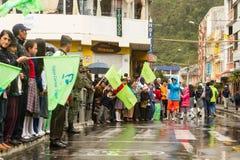 Ecuatoriaanse President Supporters Stock Fotografie
