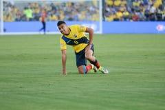 Ecuatorian gracza piłki nożnej pozycja podczas Copa Ameryka Centenario Fotografia Royalty Free
