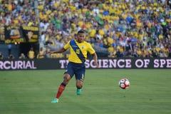 Ecuatorian piłka nożna Antonio Walencja podczas Copa Ameryka Centenari Zdjęcia Royalty Free