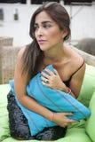 Ecuatoriano hermoso de la mujer imagen de archivo