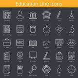 Ecucation Icons. Set of 30 education line icons Stock Photo