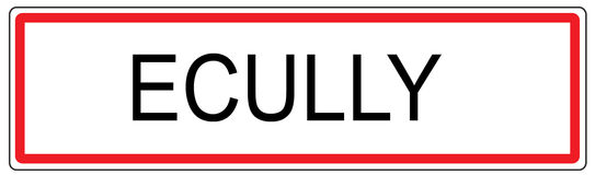 Ecully city traffic sign illustration in France Royalty Free Stock Images