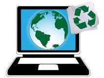 Ecycling en groene planeet Royalty-vrije Illustratie