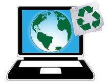 Ecycling and green planet. Think about recycling and green planet every day
