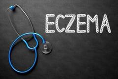 Eczema sulla lavagna illustrazione 3D Fotografia Stock