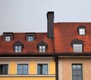 ed κεραμίδι στεγών της Γερμ& Στοκ εικόνα με δικαίωμα ελεύθερης χρήσης