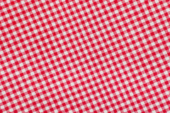 Ed и белая checkered предпосылка скатерти Стоковое Изображение RF