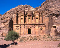 Ed Deir monastery in Petra Royalty Free Stock Photos