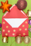 Ed envelope, christmastime Royalty Free Stock Photo