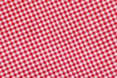 Ed et fond checkered blanc de nappe Image libre de droits