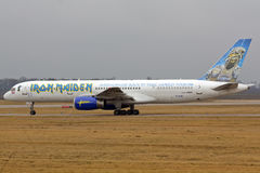The Ed Force One with Iron Maiden on board royalty free stock photo
