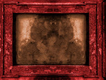 Ed and gold old gothic frame Stock Images