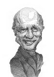 Ed Harris Caricature Sketch royalty free stock photos