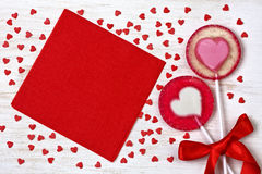 Ed heart lollipops Stock Photo
