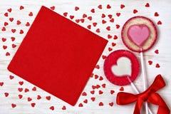 Ed heart lollipops Stock Photo