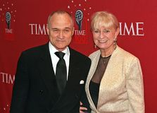 Ed Kelly and Veronica Kelly. Then New York City Police Commissioner Ed Kelly and wife Veronica Kelly arrive at the Time Warner Center in Manhattan for the Time royalty free stock photos