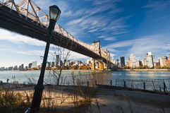 Ed Koch Queensboro Bridge, also known as the 59th Street Bridge Royalty Free Stock Image