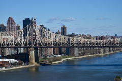 Ed Koch Queensboro Bridge view from Long Island City to Rooseveld Island Stock Image