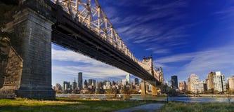 Ed Koch Queensboro bro, också som är bekant som den 59th gatabron Royaltyfri Bild