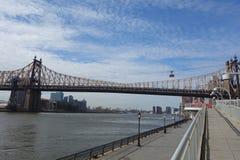 Ed Koch Queensboro most nad Wschodnią rzeką w Miasto Nowy Jork fotografia royalty free