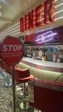 Ed rakiet przerwy znaka amerykanina gość restauracji zdjęcie royalty free