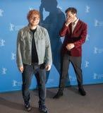 Ed Sheeran and Murray Cummings pose during Berlinale 2018 Stock Photos