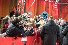 Ed Sheeran na czerwonym chodniku podczas Berlinale 2018 obrazy stock