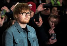 Free Ed Sheeran On Red Carpet During Berlinale 2018 Stock Image - 110661411