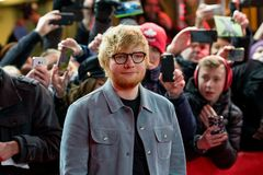 Ed Sheeran on red carpet during Berlinale 2018. Berlin, Germany - February 23, 2018: English singer Ed Sheeran on red carpet while attending the `Songwriter` Royalty Free Stock Photos