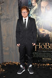 """Ed Sheeran. Singer/songwriter Ed Sheeran at the Los Angeles premiere of """"The Hobbit: The Desolation of Smaug"""" at the Dolby Theatre, Hollywood. December 2, 2013 Royalty Free Stock Photos"""
