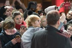 Ed Sheeran under den 68th Berlinale festivalen 2018 Royaltyfria Bilder