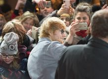 Ed Sheeran under den 68th Berlinale festivalen 2018 Arkivfoto