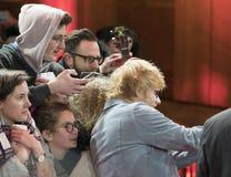 Ed Sheeran under den 68th Berlinale festivalen 2018 Arkivfoton