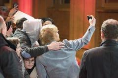 Ed Sheeran under den 68th Berlinale festivalen 2018 Royaltyfri Fotografi