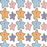 Ed starfish beach seamless pattern design. Vector illustration eps 10 Royalty Free Stock Photos