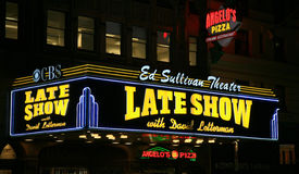 Ed Sullivan Theater at Night Royalty Free Stock Photos