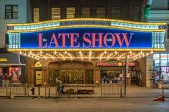 Ed Sullivan Theatre i New York arkivbilder