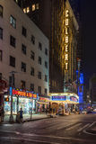 Ed Sullivan Theatre in New York. New York, USA on 3rd Sept 2015:The Ed Sullivan Theater in Broadway's Theater District in Manhattan, The theater has been used as Royalty Free Stock Images