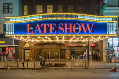 Ed Sullivan Theatre in New York. New York, USA on 3rd Sept 2015:The Ed Sullivan Theater in Broadway's Theater District in Manhattan, The theater has been used as stock images