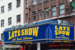 Ed Sulliven David Letterman Theater NYC Stock Photos