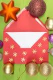 Ed-Umschlag, christmastime Lizenzfreies Stockfoto