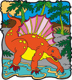 edafosauro δεινοσαύρων Στοκ Φωτογραφίες