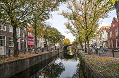 Edam canal in autumn stock photography