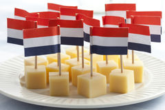 Edam cheese cubes Royalty Free Stock Photos