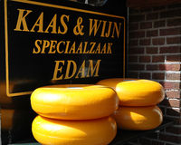 Edam cheese. Displayed in a store in the country royalty free stock images