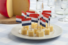 Edam cheese snacks Stock Photo