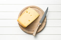 Edam cheese. Top view of edam cheese royalty free stock images